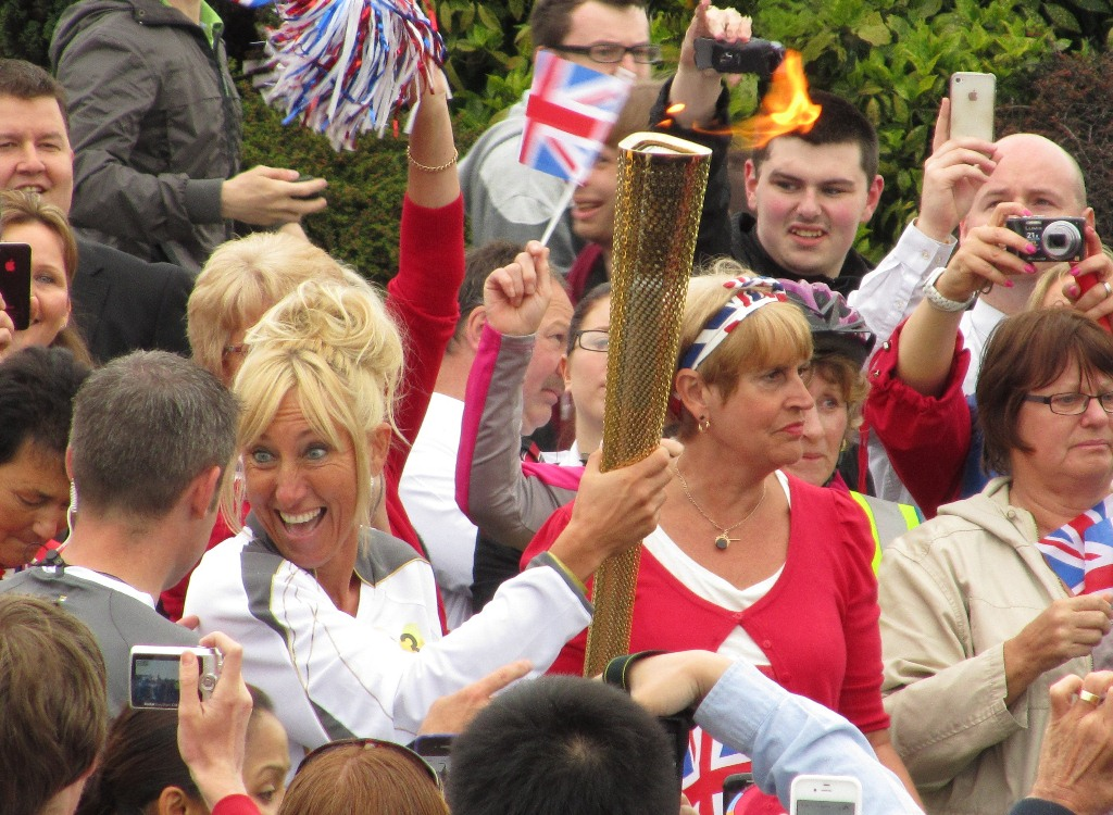 Olympic Torch in Crewe – Photos