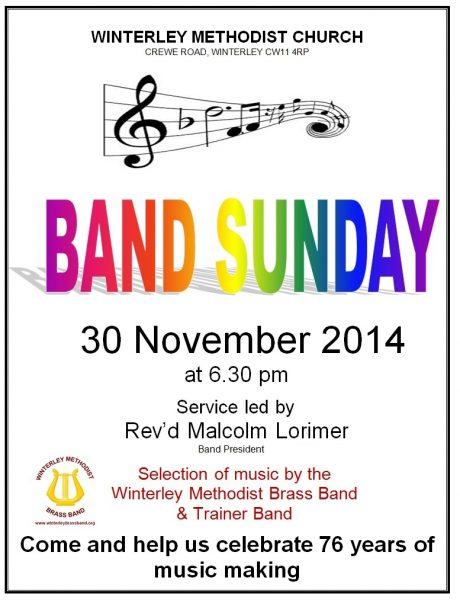 Band Sunday 2014 Poster 1