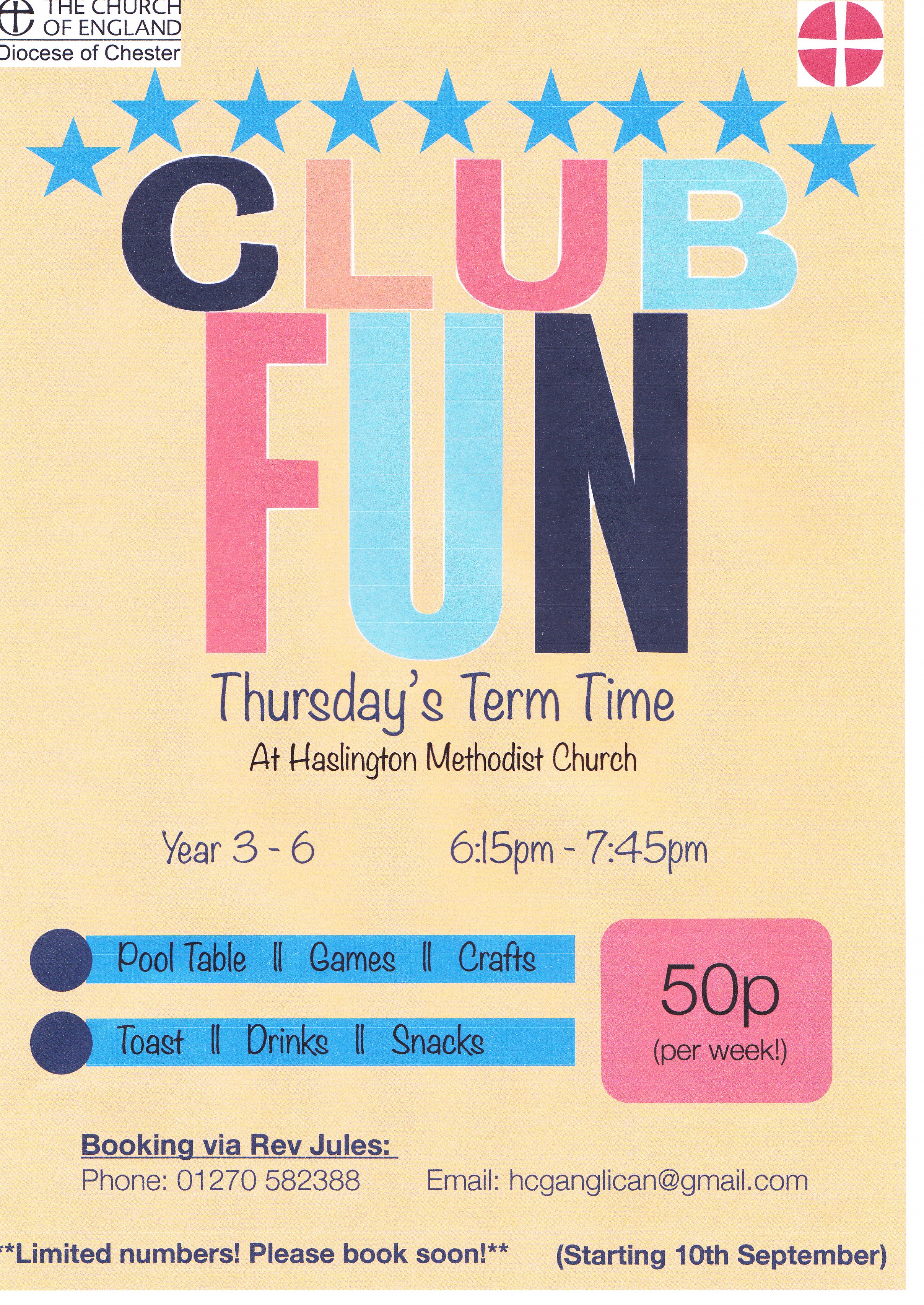 Club Fun flyer