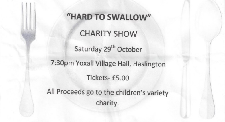"""Hard to Swallow"" at the Yoxall – Sat 29th October 2016"