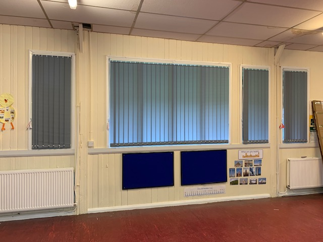 New Blinds in the Main Hall